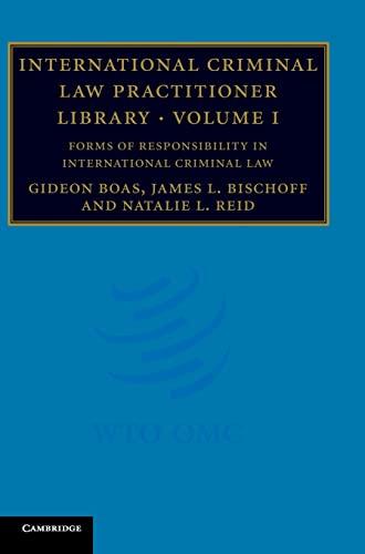 9780521878319: International Criminal Law Practitioner Library: Volume 1 (The International Criminal Law Practitioner)