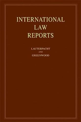 9780521879231: International Law Reports: Volume 134