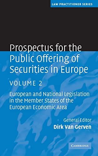 Prospectus For The Public Offering Of Securities In Europe 2 Volume Hardback Set: Prospectus For ...