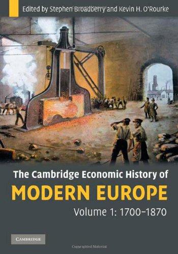 9780521882026: The Cambridge Economic History of Modern Europe, Volume 1: 1700-1870