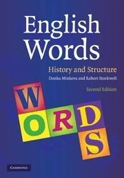 9780521882583: English Words 2nd Edition Hardback: History and Structure