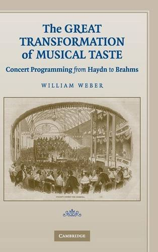 9780521882606: The Great Transformation of Musical Taste: Concert Programming from Haydn to Brahms