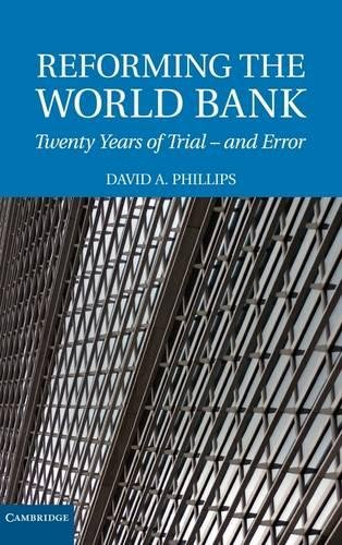 9780521883054: Reforming the World Bank Hardback: Twenty Years of Trial and Error