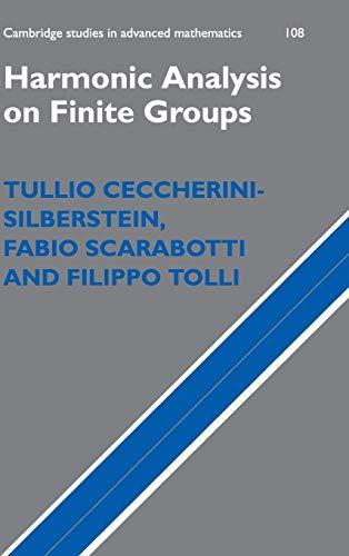 9780521883368: Harmonic Analysis on Finite Groups: Representation Theory, Gelfand Pairs and Markov Chains (Cambridge Studies in Advanced Mathematics)