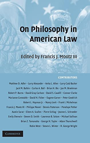 9780521883689: On Philosophy in American Law