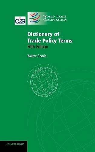 9780521885065: Dictionary of Trade Policy Terms