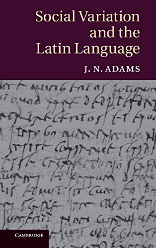 9780521886147: Social Variation and the Latin Language