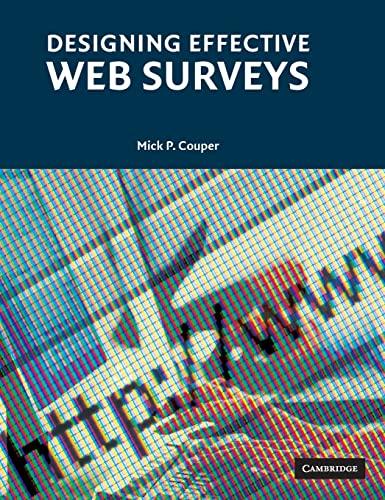 9780521889452: Designing Effective Web Surveys