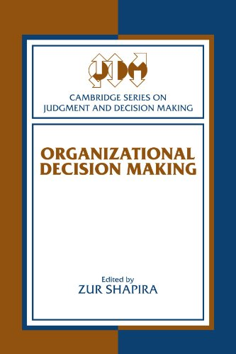 9780521890502: Organizational Decision Making (Cambridge Series on Judgment and Decision Making)