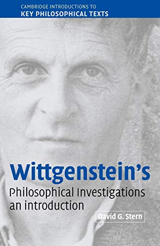 9780521891325: Wittgenstein's Philosophical Investigations: An Introduction (Cambridge Introductions to Key Philosophical Texts)