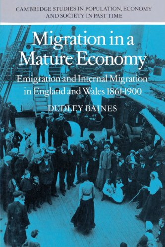 9780521891547: Migration in a Mature Economy: Emigration and Internal Migration in England and Wales 1861–1900 (Cambridge Studies in Population, Economy and Society in Past Time)