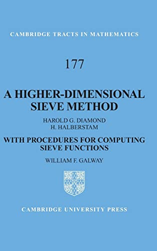 9780521894876: A Higher-Dimensional Sieve Method: With Procedures for Computing Sieve Functions (Cambridge Tracts in Mathematics)