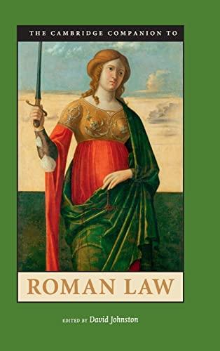9780521895644: The Cambridge Companion to Roman Law