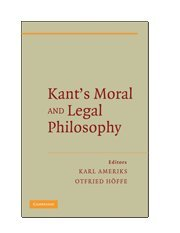 9780521898713: Kant's Moral and Legal Philosophy (The German Philosophical Tradition)