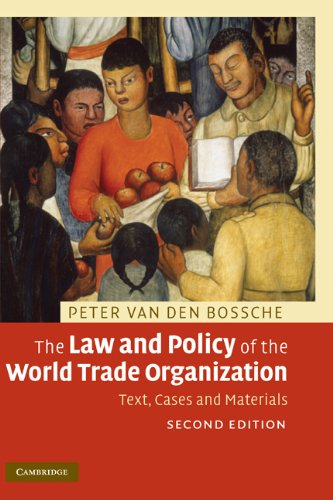 9780521898904: The Law and Policy of the World Trade Organization: Text, Cases and Materials