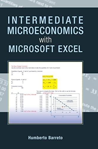 9780521899024: Intermediate Microeconomics with Microsoft Excel