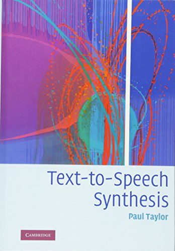 9780521899277: Text-to-Speech Synthesis