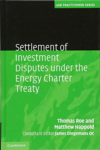 9780521899383: Settlement of Investment Disputes under the Energy Charter Treaty (Law Practitioner Series)
