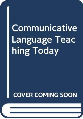 Communicative Language Teaching Today (9780521934367) by [???]