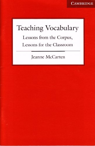 9780521943253: Jeanne McCarten Teaching Vocab Pedagogical Booklet Nyo 2007 NY Box Only