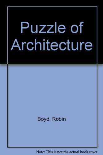 Puzzle of Architecture (0522835392) by Robin Boyd