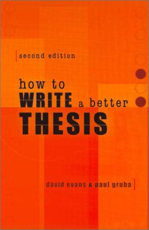 9780522850307: How to Write a Better Thesis
