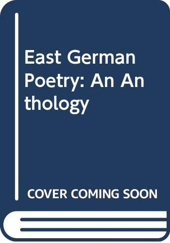 9780525033103: East German Poetry: An Anthology