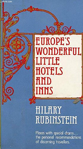 9780525100607: Europe's Wonderful Little Hotels and Inns
