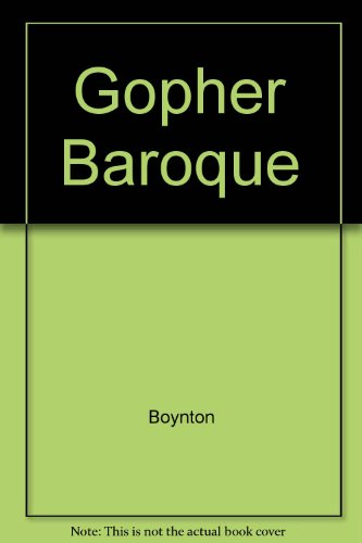 9780525115854: Gopher Baroque, and Other Beastly Conceits