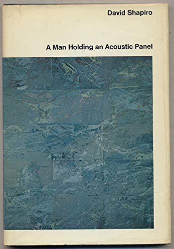 A man holding an acoustic panel: Shapiro, David