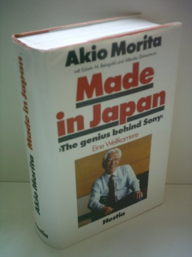 Made in Japan: Akio Morita and Sony 9780525244653 Sony is one of the most powerful and respected multinational corporations in the world, and Akio Morita is its outspoken chairman. From his global perspective, Morita provides an informative and highly entertaining look at how Japanese business really works. TP: Plume.