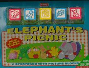 9780525457718: Elephant's Picnic: A Storybook With Picture Blocks