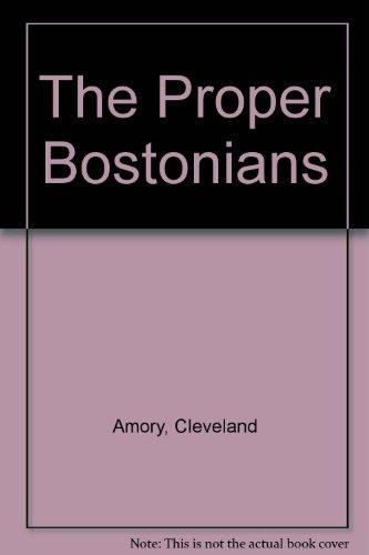 9780525470021: Title: The Proper Bostonians