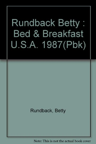 9780525482635: Bed and Breakfast USA 1987