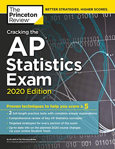 9780525568353: Cracking the AP Statistics Exam, 2020 Edition: Practice Tests & Proven Techniques to Help You Score a 5 (College Test Preparation)