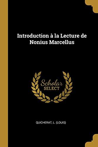 9780526327133: Introduction à la Lecture de Nonius Marcellus
