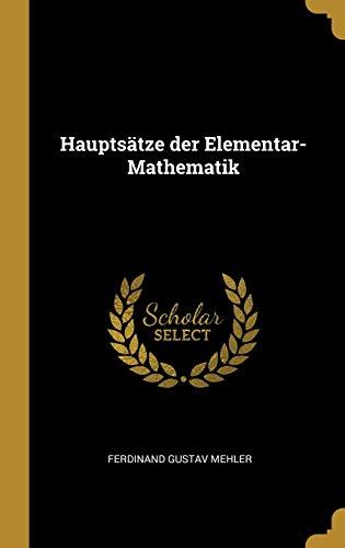 9780526708383: Hauptsätze der Elementar-Mathematik
