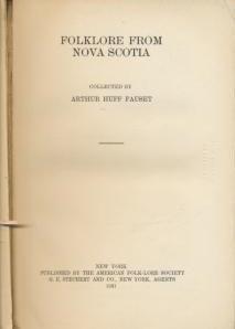 9780527010768: Folklore from Nova Scotia