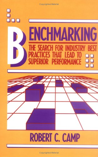 BENCHMARKING: THE SEARCH FOR INDUSTRY BEST PRACTICES THAT LEAD TO SUPERIOR PERFORMANCE.