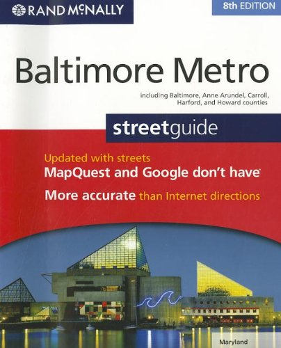 9780528004506: Rand McNally Baltimore Metro Streetguide, Maryland: Including Baltimore, Anne Arundel, Carroll, Harford, and Howard Counties