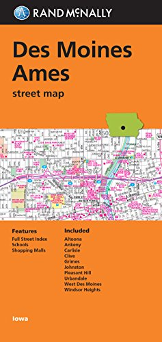 9780528007569: Folded Map: Des Moines and Ames Street Map (Rand Mcmally)