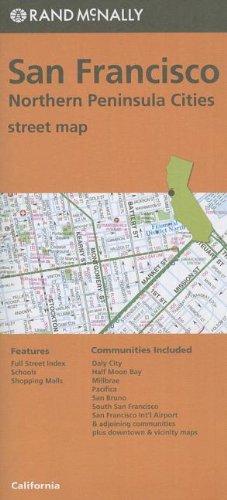 9780528007668: San Francisco, northern peninsula cities street map, CA Rand McNally (Orange Cover)