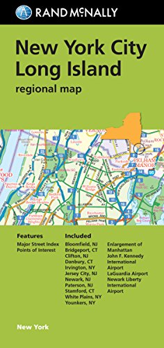 9780528007781: Folded Map: New York City Long Island Regional Map (Rand McNally New York City/Long Island)
