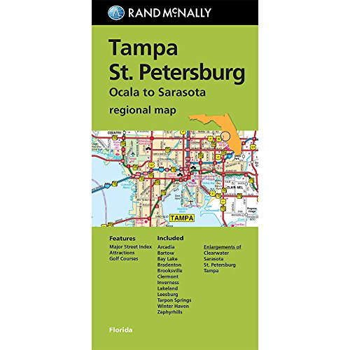 Rand McNally Tampa/St. Petersburg, Florida Regional Map: