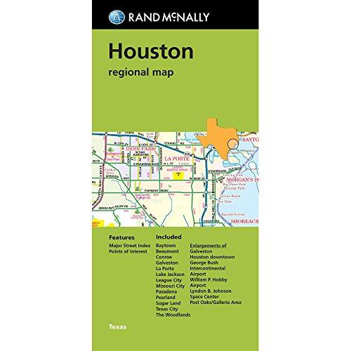 9780528007859: Rand McNally Houston regional map, Texas