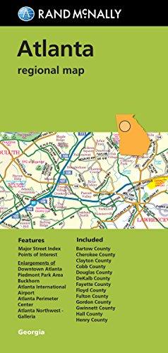 9780528007941: Folded Map: Atlanta Regional Map