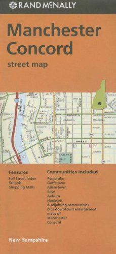 9780528008245: Rand Mcnally Folded Map: Manchester and Concord