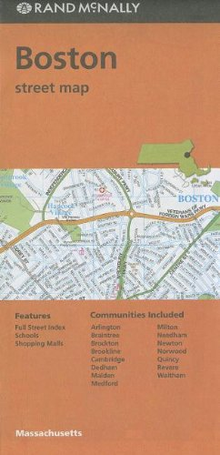 9780528008566: Rand McNally Boston Street Map