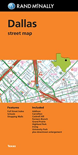 9780528008573: Rand McNally Dallas Street Map