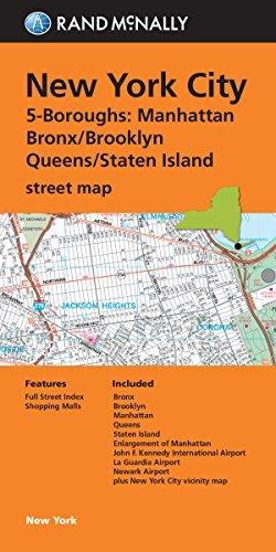 9780528008580: Folded Map: New York City 5 Boroughs (Manhattan/Bronx/Brooklyn/Queens/Staten Island)